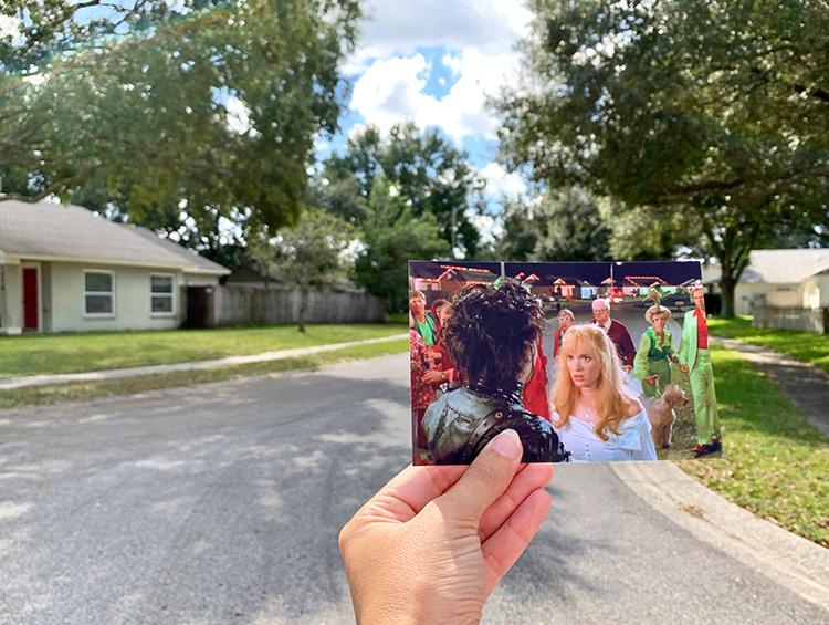 """Drehort aus """"Edward mit den Scherenhänden"""", Lutz, Florida"""
