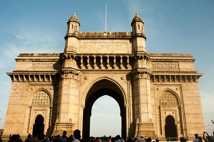 """Tenet""-Drehort Gateway of India, Mumbai, Indien"