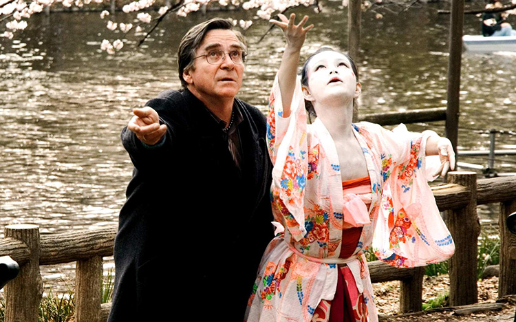 "Filmszene aus ""Kirschblüten-Hanami"" im Yoyogi-Park, Tokio"