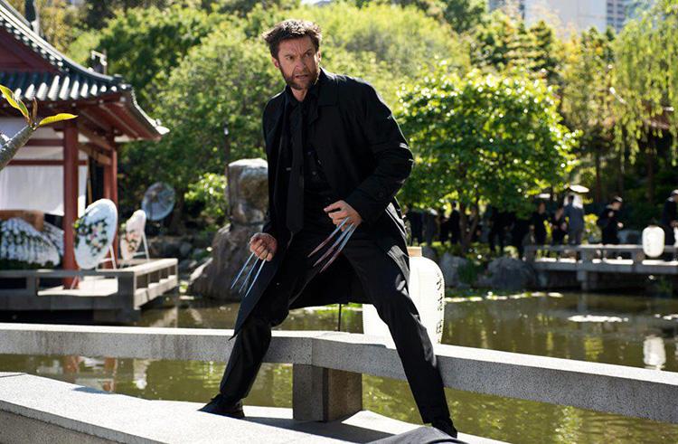 """Filmszene aus """"Wolverine"""" am Zojoji-Tempel in Tokio"""
