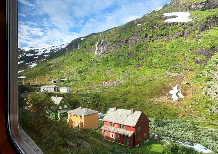 Blick aus der Flåmbahn, Norwegen