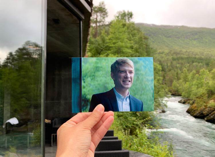 """Ex Machina""-Drehort Juvet Hotel, Valldal, Norwegen"
