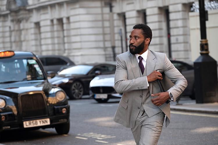 "Szene aus ""Tenet"" in London, England"