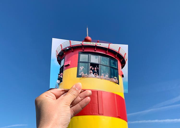"""Szene aus """"Otto - Der Außerfriesische"""" am Pilsumer Leuchtturm, Krummhörn-Greetsiel"""