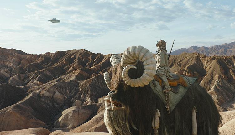 Tuske mit Bantha auf Tatooine