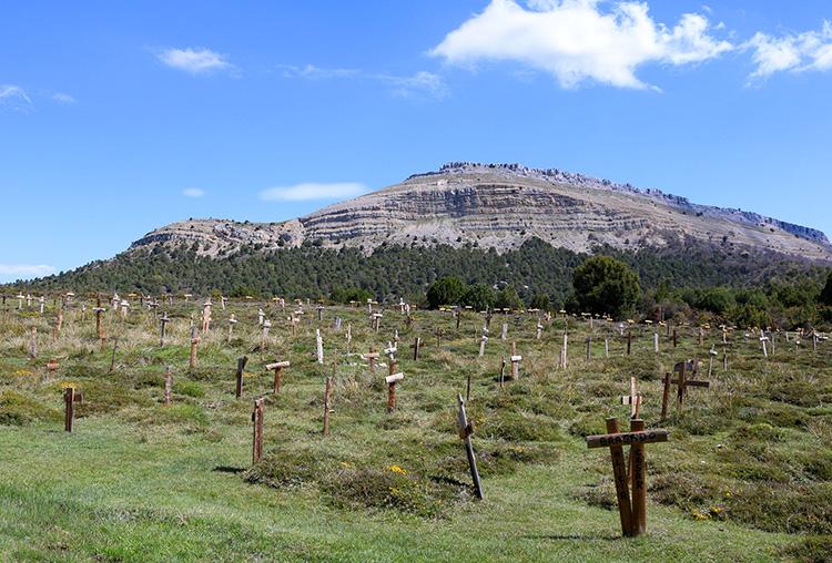 """Filmset """"Sad Hill Cemetery"""" in der Region Burgos, Spanien"""