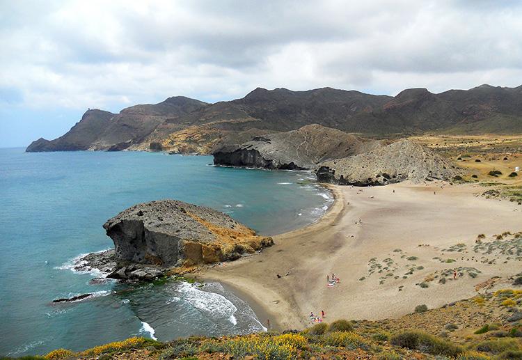 Playa de Mónsul, Naturpark Cabo de Gata, Andalusien