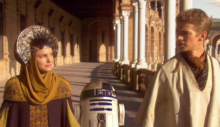 "Szene aus ""Star Wars: Episode II - Angriff der Klonkrieger"" am Plaza de España, Sevilla"