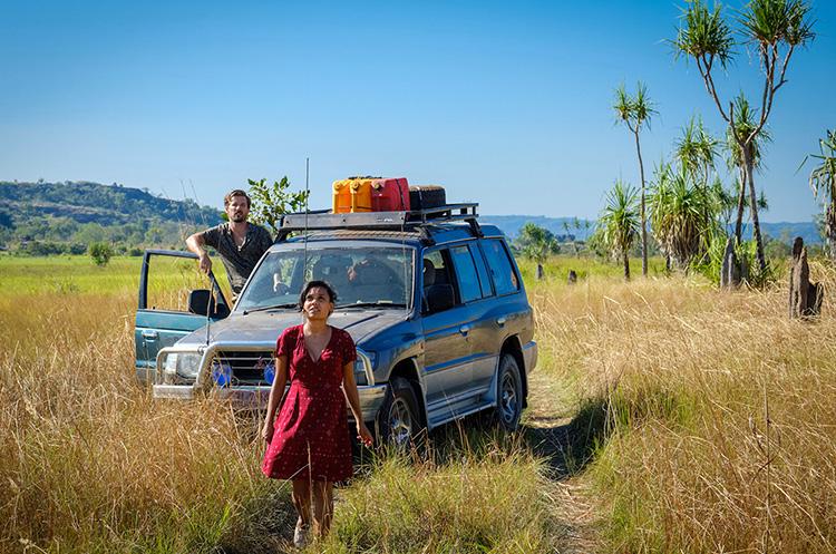"""Szene aus """"Hochzeit Down Under"""" im Northern Territory, Australien"""