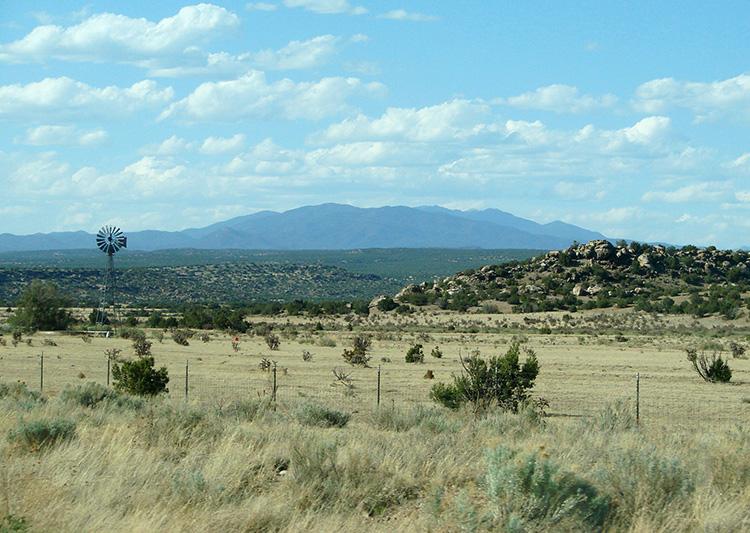 Landschaft bei Santa Fe, New Mexico