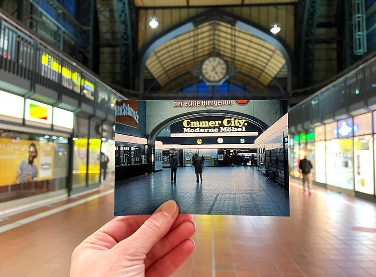 "Filmszene aus ""Supermarkt"" im Hauptbahnhof, Hamburg"