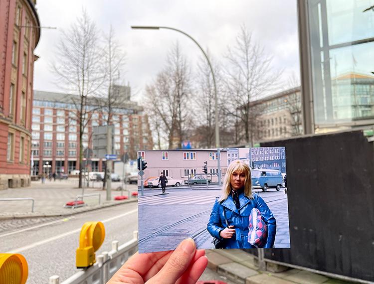 "Filmszene aus ""Supermarkt"" am U-Bahnhof Rödingsmarkt, Hamburg"