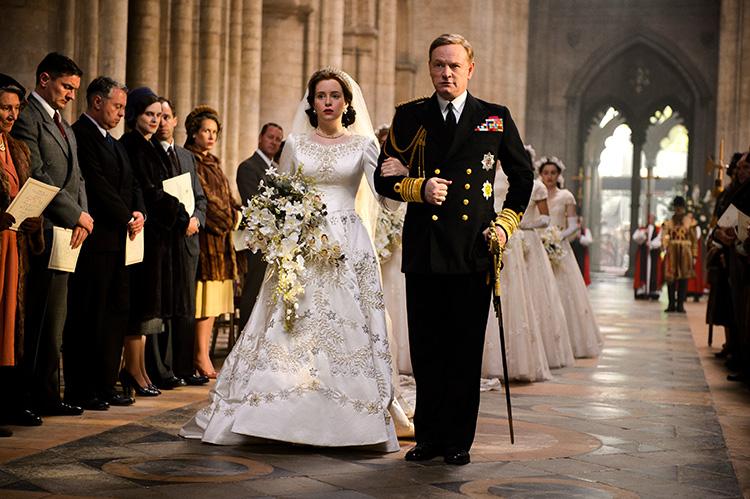 """Szene aus """"The Crown"""" in der Kathedrale von Ely"""