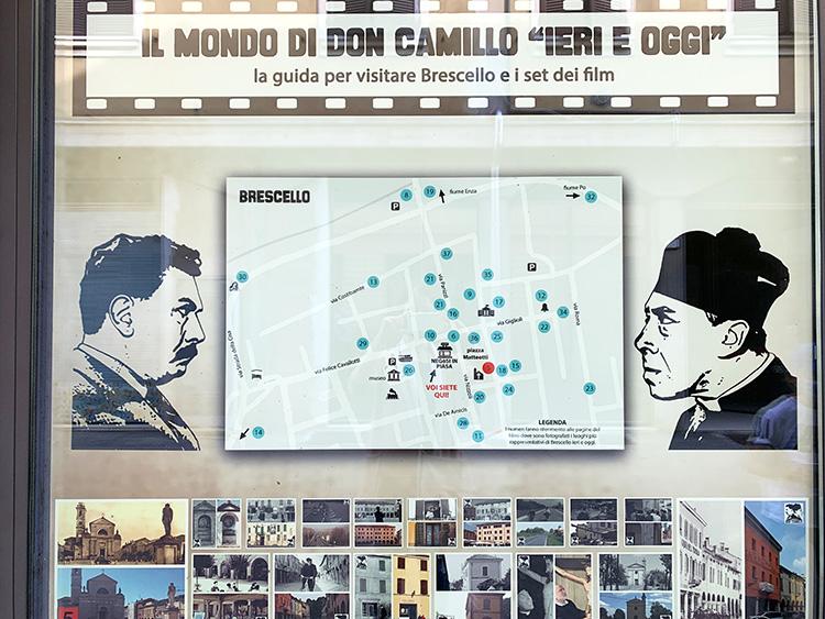 "Drehort-Rundgang zu ""Don Camillo und Peppone"", Brescello, Italien"