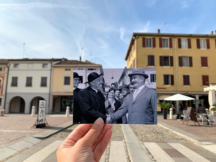 Piazza Matteotti, Brescello, Italien