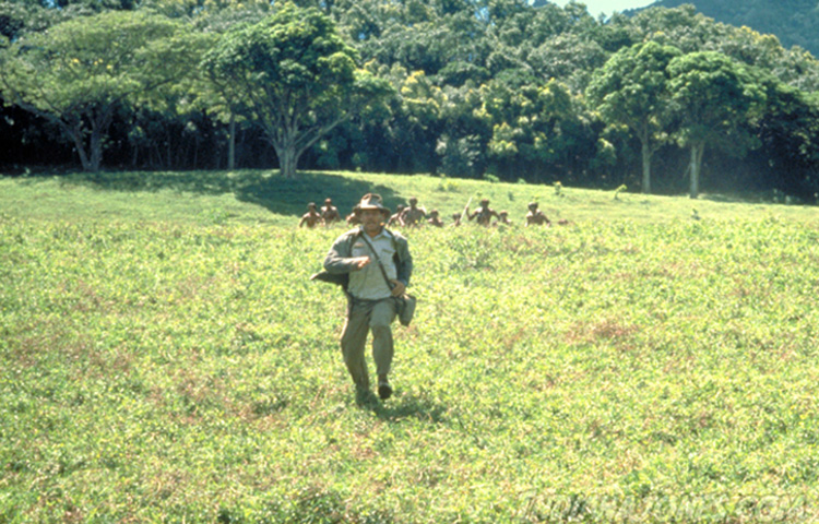 "Filmszene aus ""Indiana Jones - Jäger des verlorenen Schatzes"" auf Kauai, Hawaii"