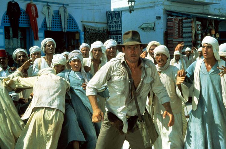 """Filmszene aus """"Indiana Jones - Jäger des verlorenen Schatzes"""" in Tunesien"""