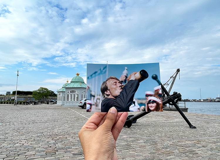 """Filmszene aus """"Der Rausch"""" bei den Royal Pavilions, Kopenhagen"""