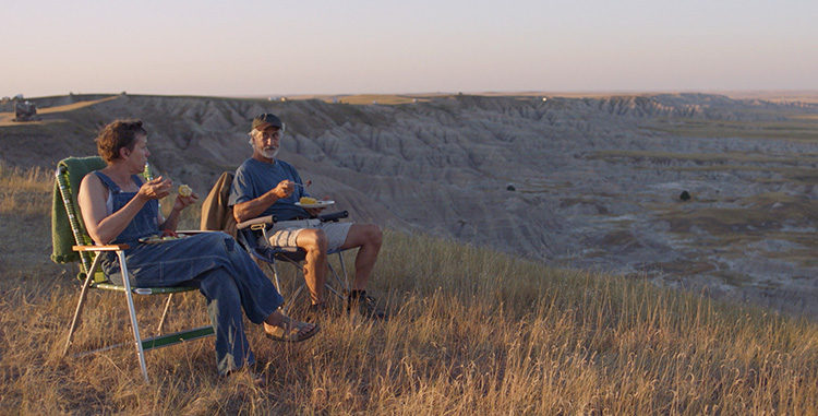 "Filmszene aus ""Nomadland"" im Badlands National Park, South Dakota"