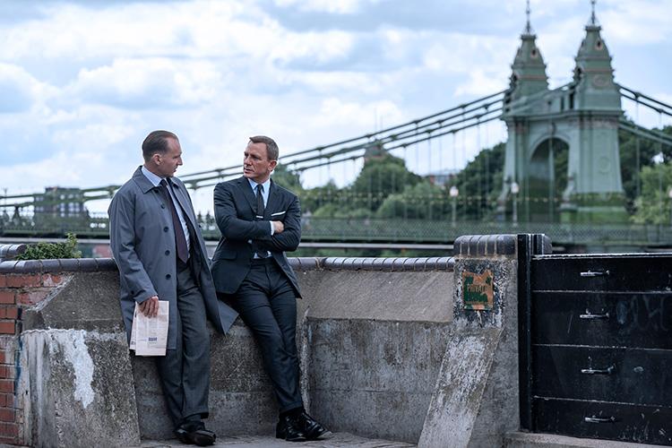 """Filmszene aus """"Keine Zeit zu sterben"""" in London"""